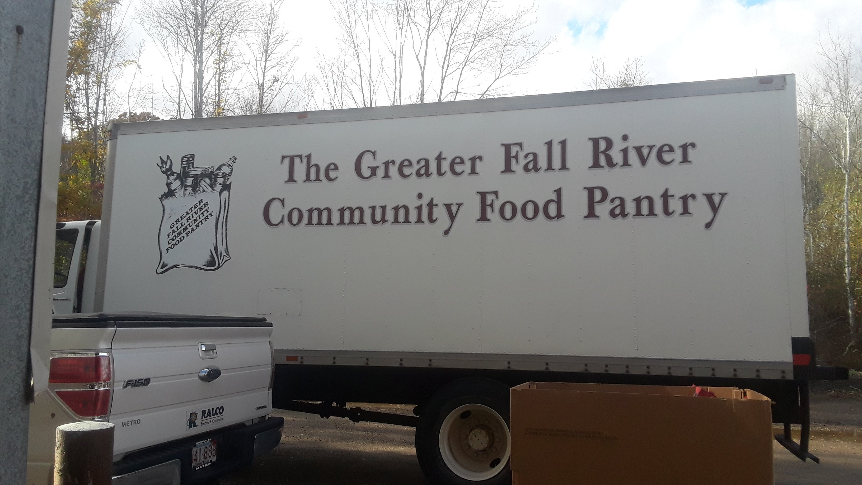 greater fall river community food pantry truck at RALCO food drive